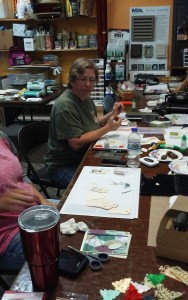 Some of our Card makers learning Lots of new Ideas for tags!
