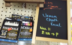 Nov. 11 Class $30.00 Chalkboard Easel and a painted wooden sign